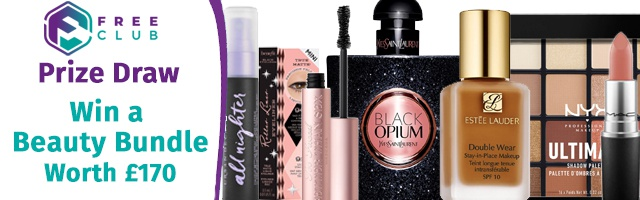 Win a FREE Beauty Bundle Worth £170, Includes a YSL Black Opium Perfume!